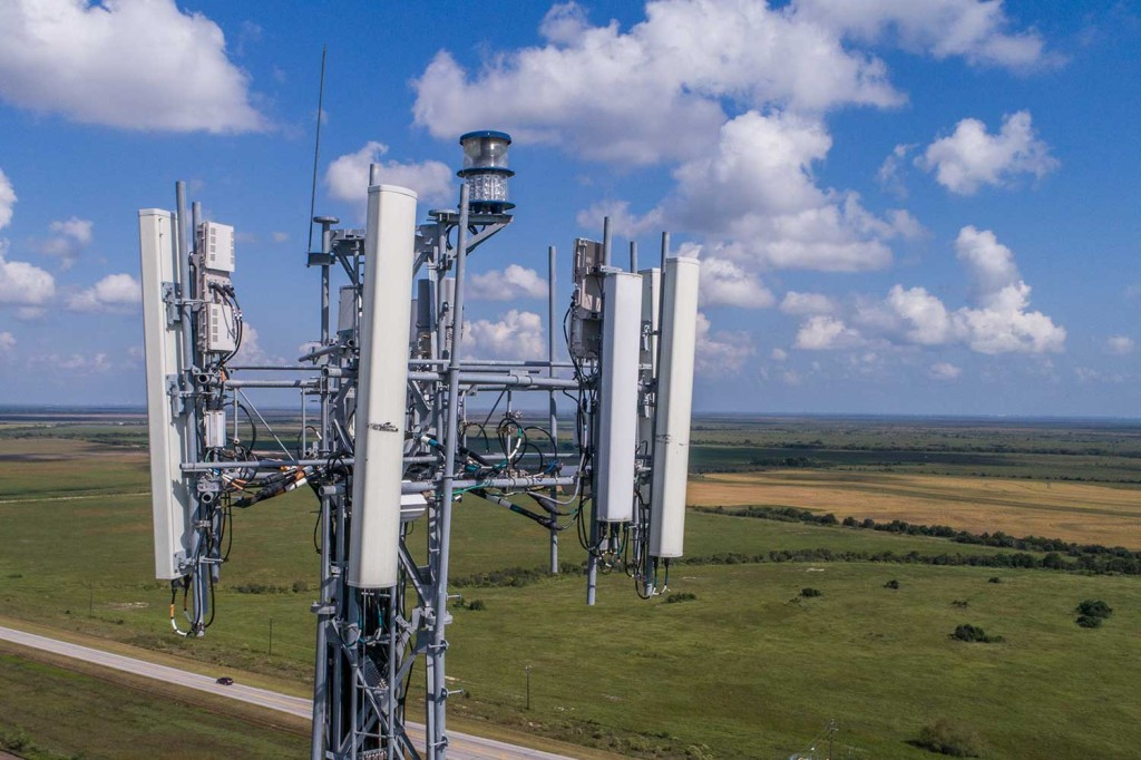 Cell Tower Aerial Photography